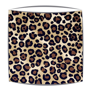 Leopard Print Fabric Lampshade in Brown