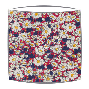 Liberty Alice W B Tana Lawn fabric lampshade in navy