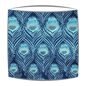 Liberty Tana Lawn Ceaser Fabric Lampshade In Blue