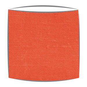 Linen Lampshade in Orange
