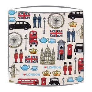 London Icons fabric lampshade