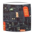 London at Night fabric lampshade