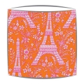 Michael Miller Eiffel Tower fabric  lampshade in Sorbet