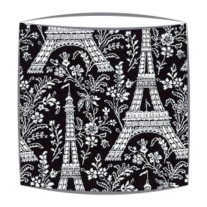 Michael Miller Eiffel Tower fabric  lampshade in black