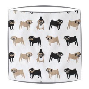 Pugs Print Fabric Lampshade