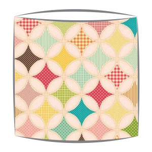 Riley Blake Fly A Kite Fabric Drum Lampshade