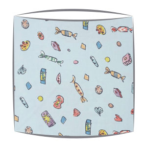 Roald Dahl Lickswishy sweets fabric Lampshade