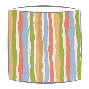 Roald Dahl Midgy Stripe Multi fabric Lampshade