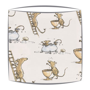 Roald Dahl Quicksy Mice fabric Lampshade