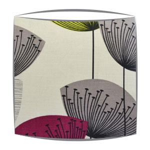 Sanderson Dandelion Clocks fabric lampshade in blackcurrant