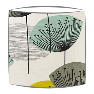 Sanderson Dandelion Clocks fabric lampshade in chaffinch