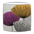 Sanderson Dandelion Clocks fabric lampshade in mauve and gold