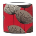 Sanderson Dandelion Clocks fabric lampshade in red
