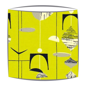 Sandersons Mobiles fabric lampshades in citrus
