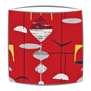 Sandersons Mobiles fabric lampshades in red