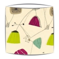 Sandersons Perpetua fabric lampshade in Lime & Blackcurrant