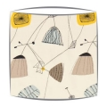 Sandersons Perpetua fabric lampshade in sunflower & pebble