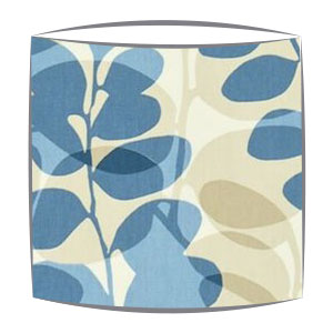 Scion Lunaria fabric lampshade in chalk biscuit and cornflower