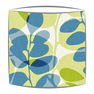 Scion fabric lampshades lunaria lampshade bespoke lampshades scion lunaria fabric lampshade in chalk denim and lime aloadofball Choice Image