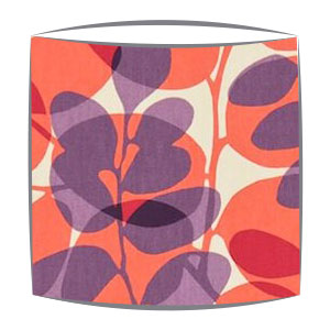 Scion Lunaria fabric lampshade in plum coral and linen