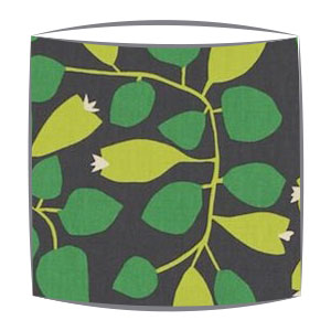 Scion Rosehip fabric lampshade in emerald lime and pewter
