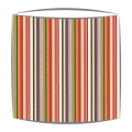 Scion Strata Fabric Lampshade in Coral