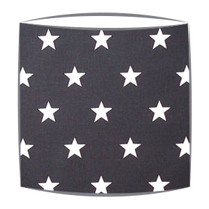 Star Print Drum Lampshade For Children in Black