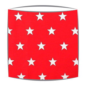 Star Print Drum Lampshade For Children in Red