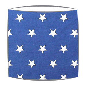 Star Print Drum Lampshade For Children in Royal Blue