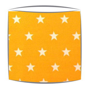 Star Print Drum Lampshade For Children in Yellow