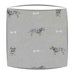 Terrier Print Fabric lampshade