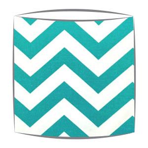 Turquoise Chevron Zig Zag Fabric Drum Lampshade