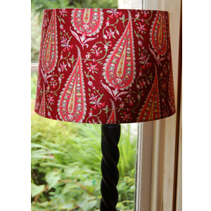 Amy Butler lampshade in Paisley fabric in wine