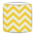 Yellow Chevron Zig Zag Fabric Drum Lampshade