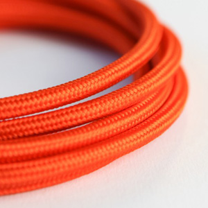Orange fabric lighting cable