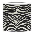 Zebra Print Fabric Lampshade Handmade