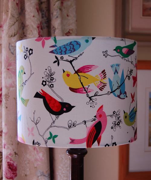 Alexander Henry June Song Lampshade | Drum lampshade handmade in ...