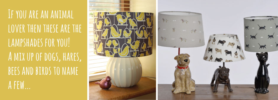 Animal Bird Print Lampshades
