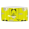 Large oversized lampshade in Sandersons Mobile fabric in citron