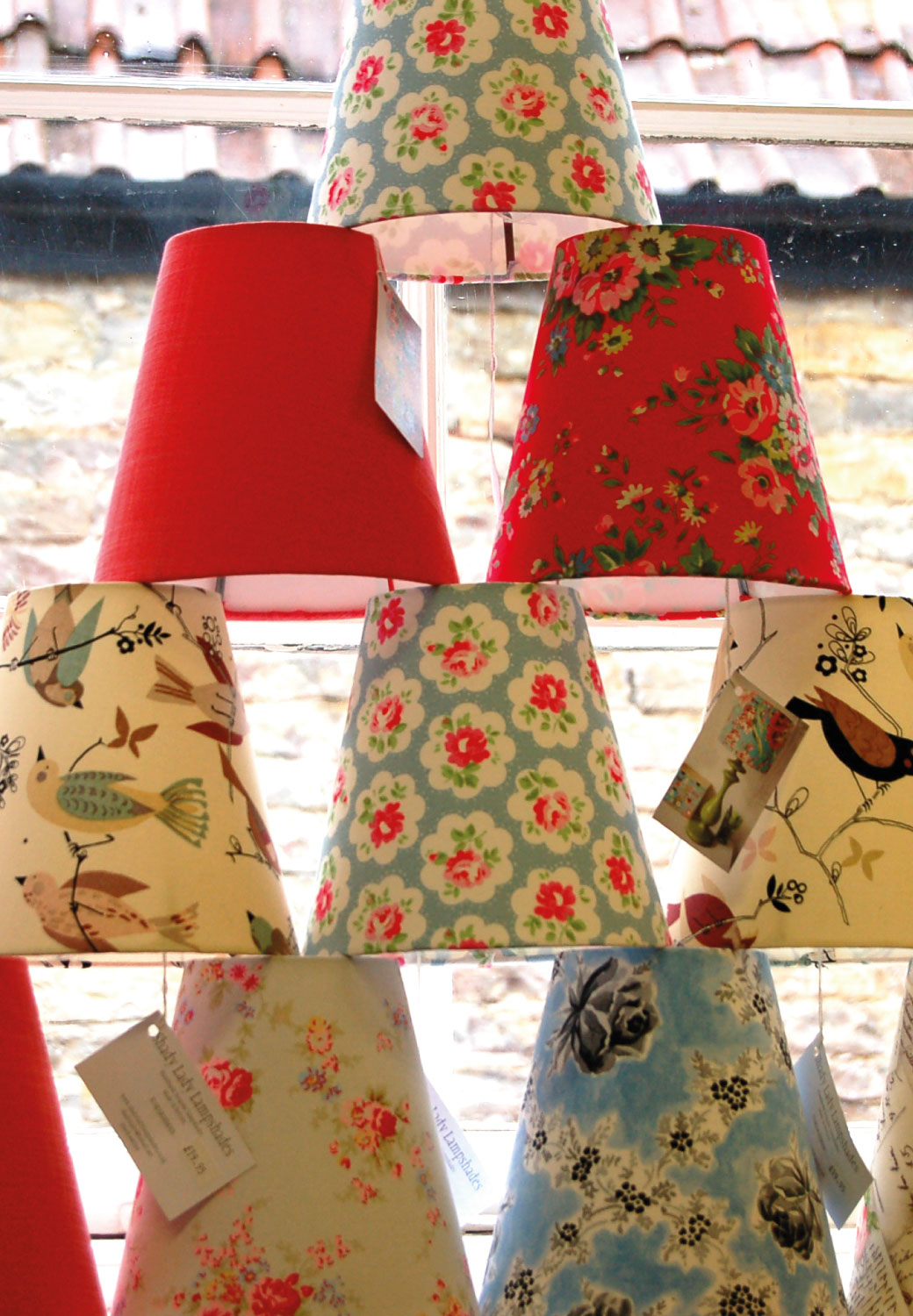Bespoke lampshades uk custom made bespoke retro lampshades candle clip aloadofball Gallery