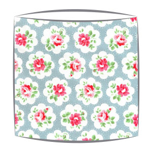 cath kidston provece rose blue fabric lampshade