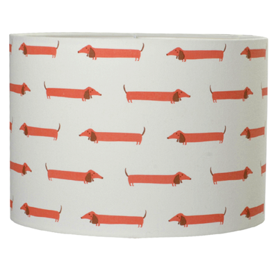 Orange daschund lampshade