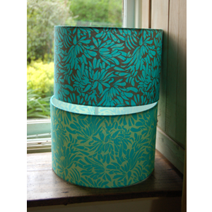 Handmade drum lampshade in Amy Butler Daisy Chain fabric