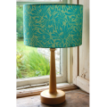 Handmade drum lampshade in Amy Butler Daisy Chain fabric in Turquoise