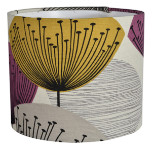 Sanderson Dandelion Clocks Fabric Lampshade in Gold/Mauve