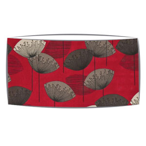 Extra Large oversized lampshade in Sandersons Dandelion Clocks fabric in red