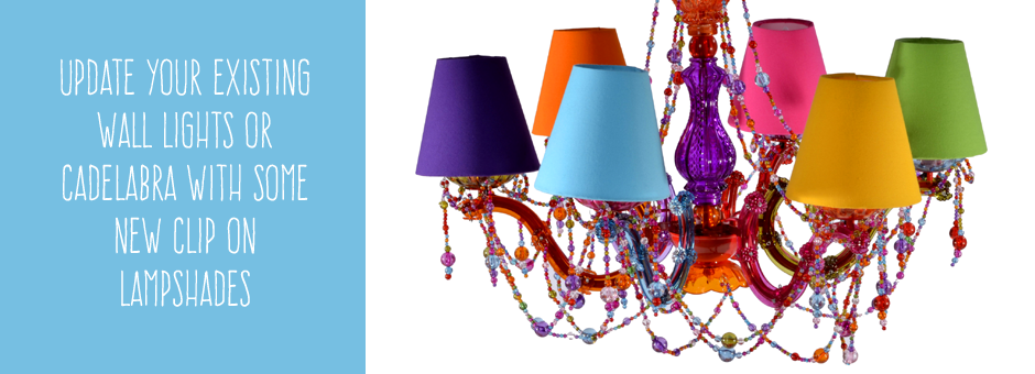 Clip on lampshades | Bespoke candelabra shades | Clip on wall ...
