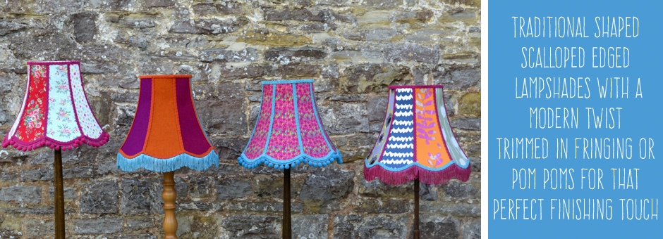 Traditional lampshades standard lampshades scalloped lampshades a modern twist on the traditional shape standard lampshade no plain and boring lampshades here i will add lampshades to this page as i make them aloadofball Choice Image