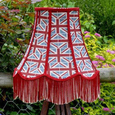 Union Jack Scalloped Lampshade