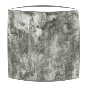 Crsuhed Velvet Lampshade in Silver